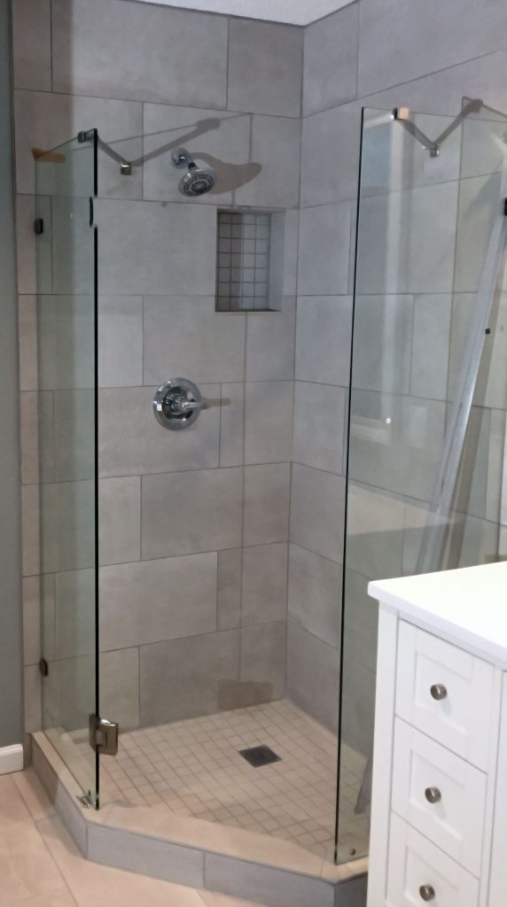 New plumbing and new shower