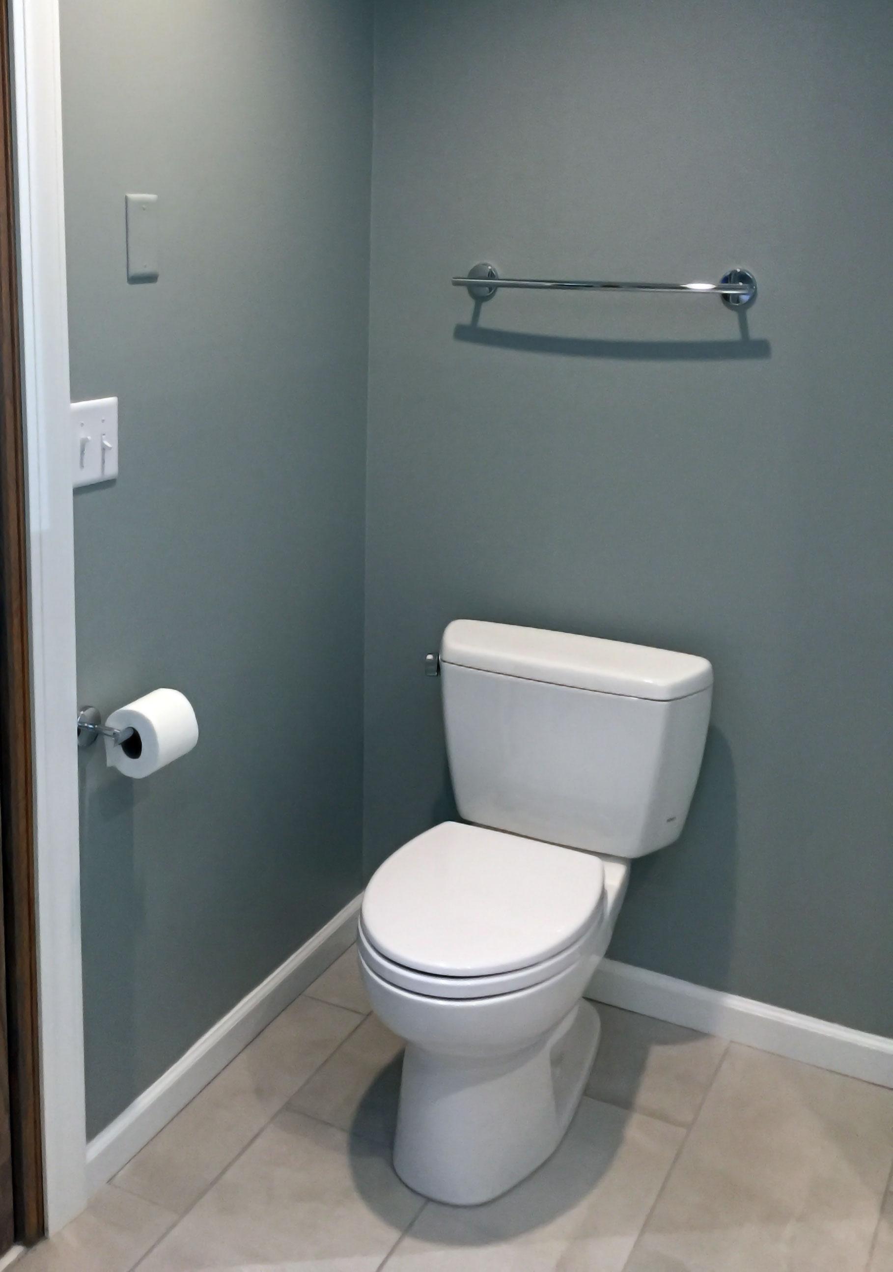 New plumbing and toilet