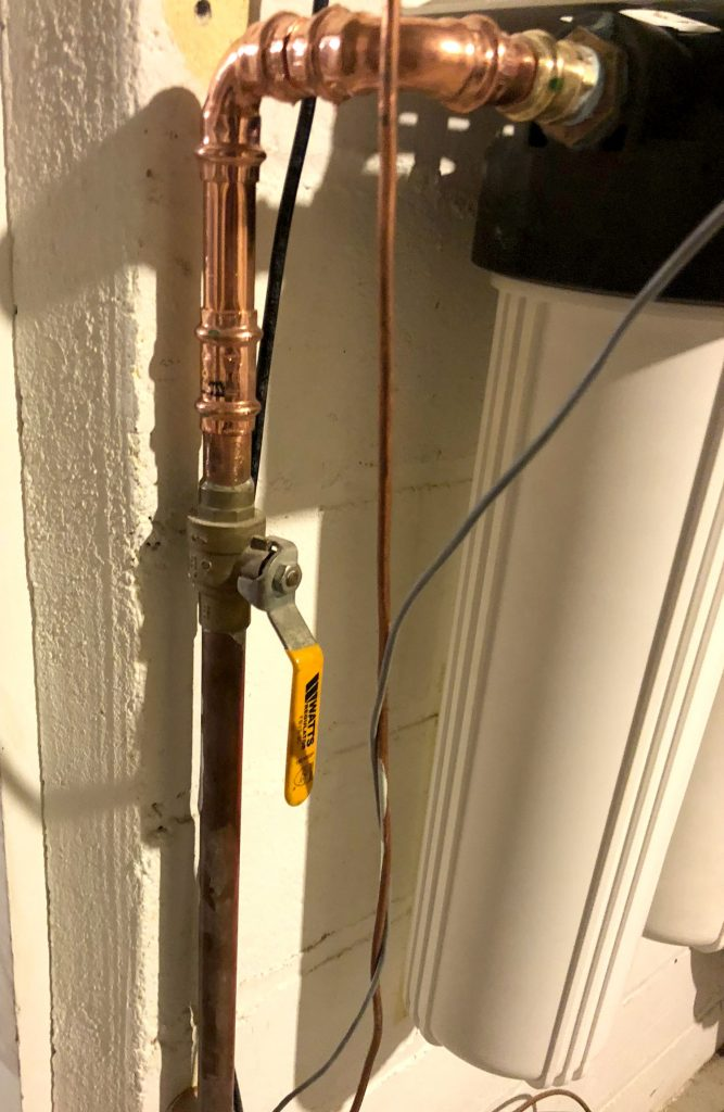 whole house in-line water filter